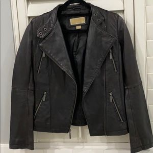 MICHEAL by Michael kors black leather jacket xs
